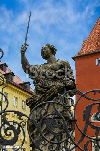 Justitia sculpture in Regensburg