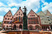 istock Justitia statue at Römer, the 15th century town hall of Frankfurt, Germany 1251878850