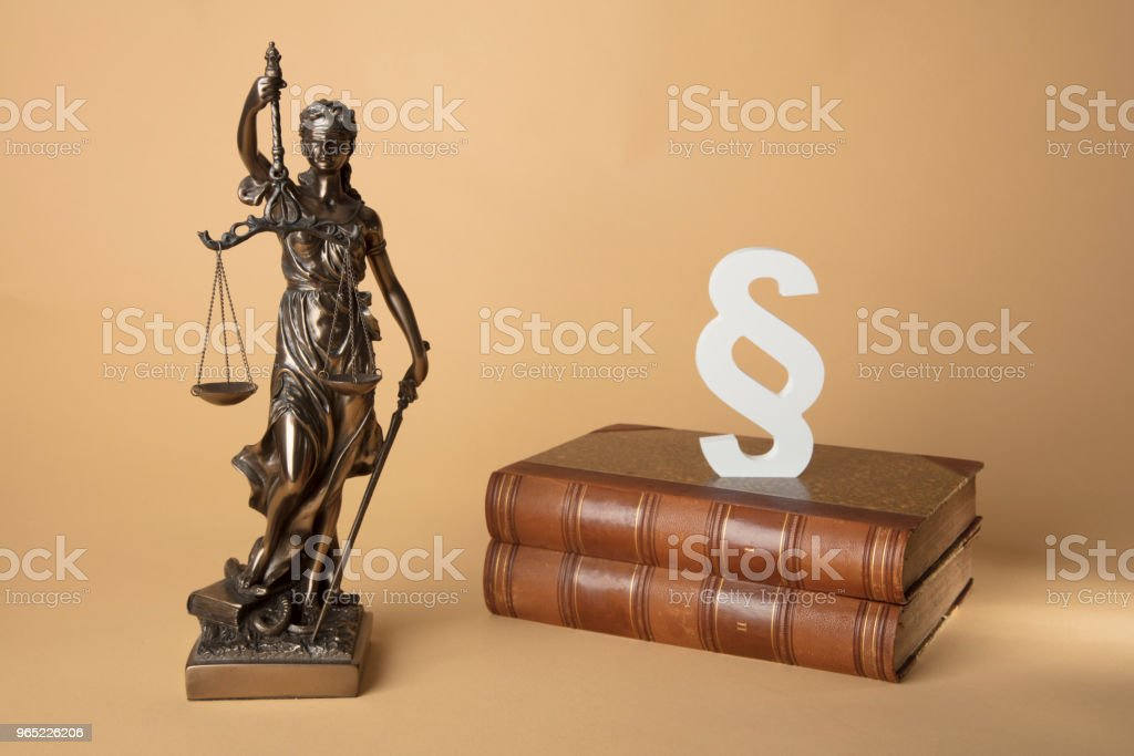 Justizia Figure old Books and Section mark zbiór zdjęć royalty-free