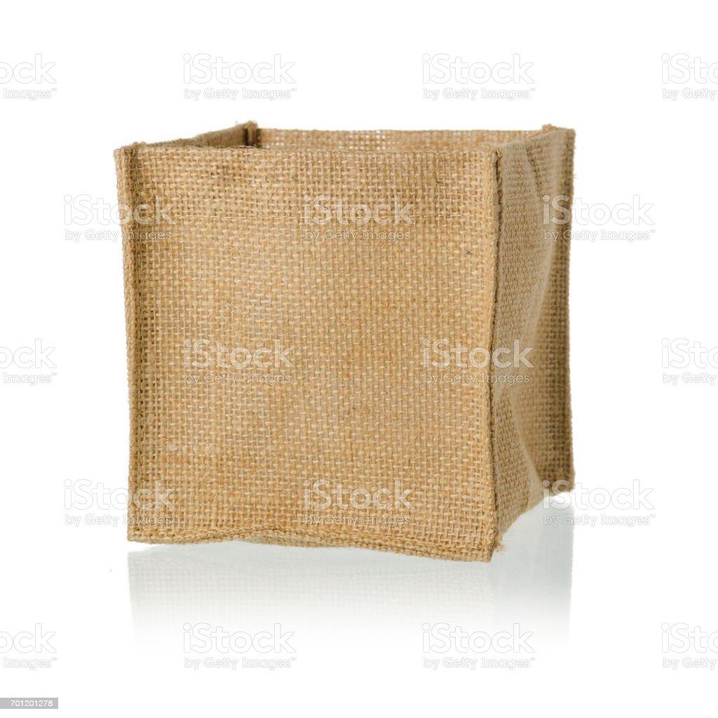 Jute bag on white background stock photo