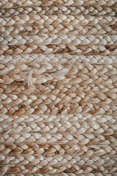 Jute Carpet Background stock photo