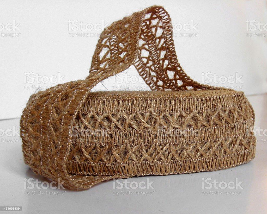 Jute lace stock photo