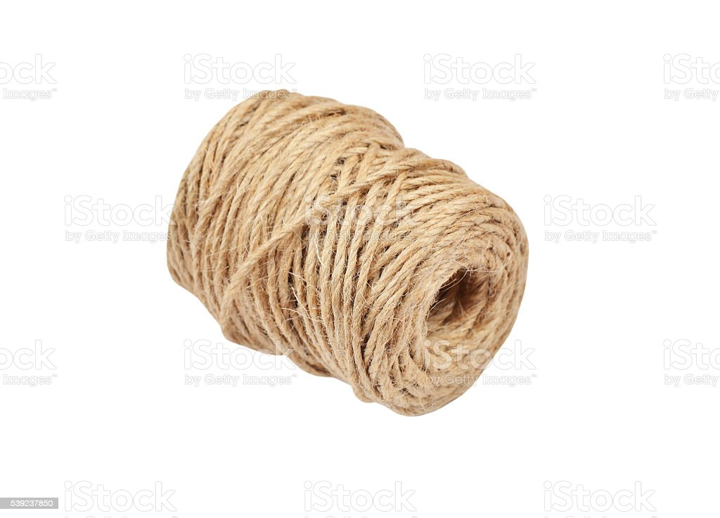 Jute rope coil royalty-free stock photo