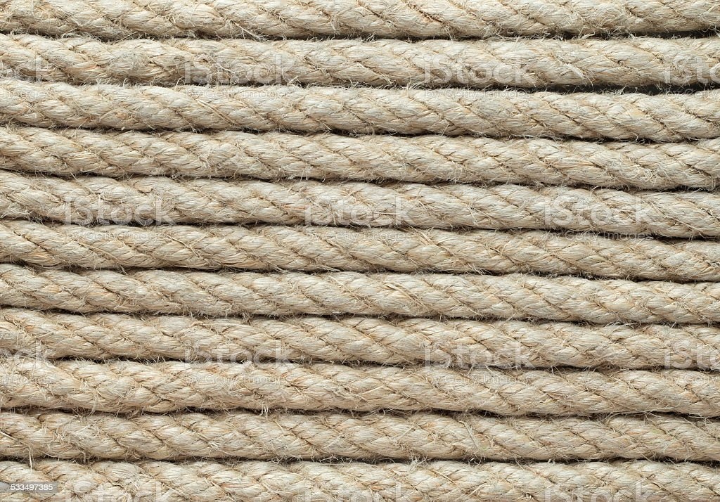 jute rope stock photo