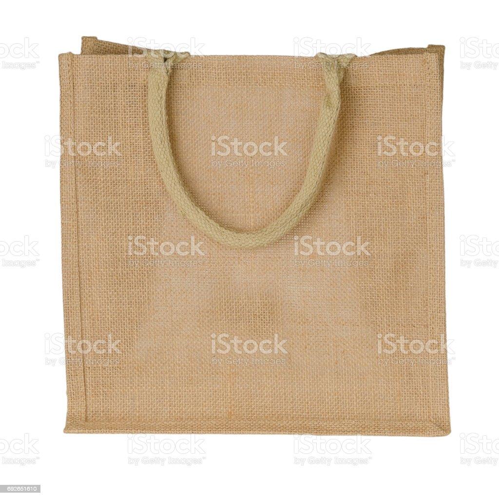 Jute Tote Bag stock photo