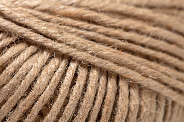 jute twine close-up - sisal stock pictures, royalty-free photos & images