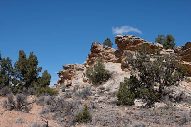 Jutting Ridge with Pinyon Juniper Biome stock photo