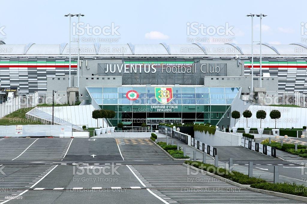 Juventus stadium in Torino stock photo