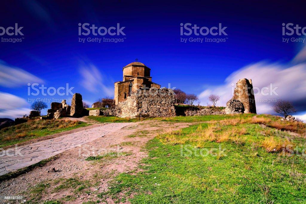 Jvari Monastery, Georgia stock photo