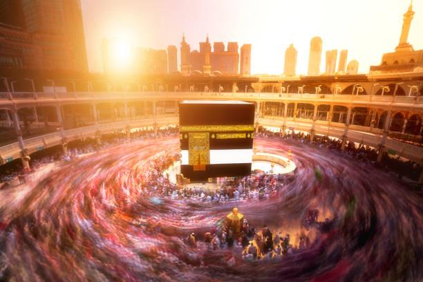 성원 알 haram 사우디아라비아 메카에 kaaba - saudi national day 뉴스 사진 이미지