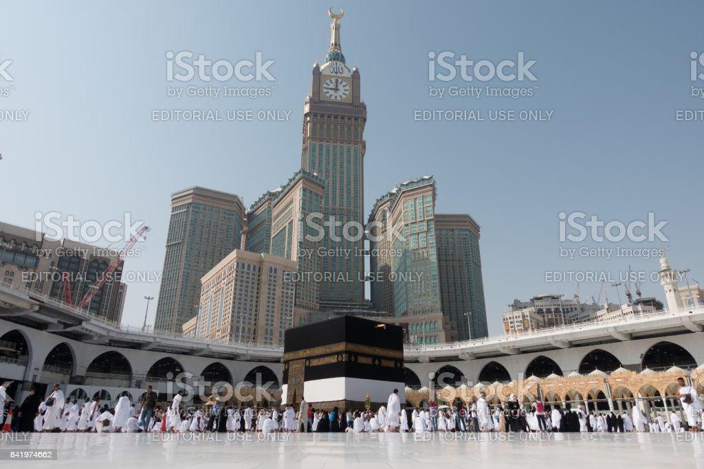 Kaaba in Mecca in Saudi Arabia stock photo
