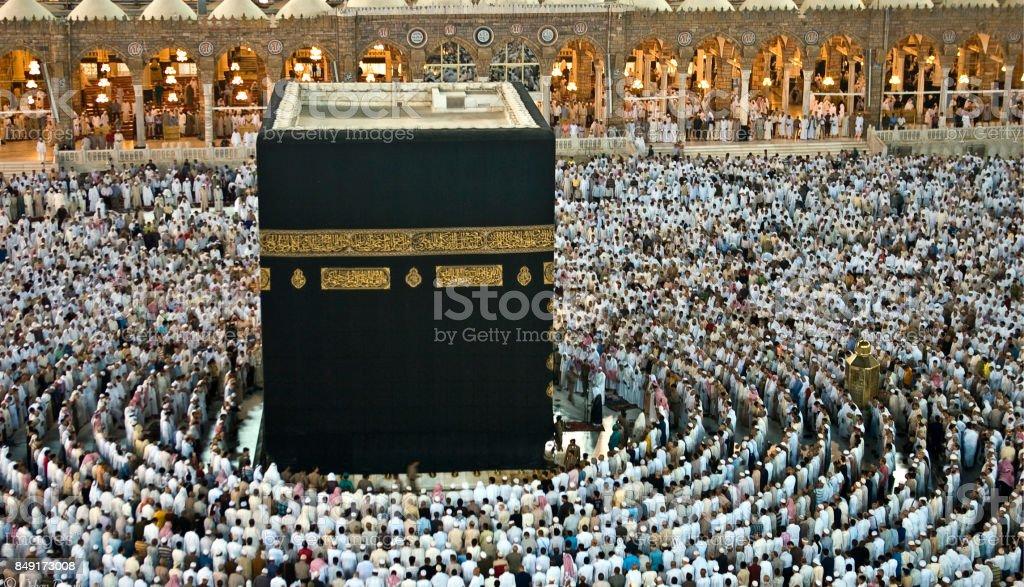 Kaaba , Makkah  -  Saudi arabia stock photo