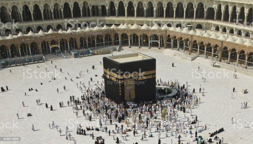 Kaaba ,Mecca  -  Saudi Arabia Kaabah ,  Makkah  Masjid al-Haram  Al-Haram Mosque Stock Photo