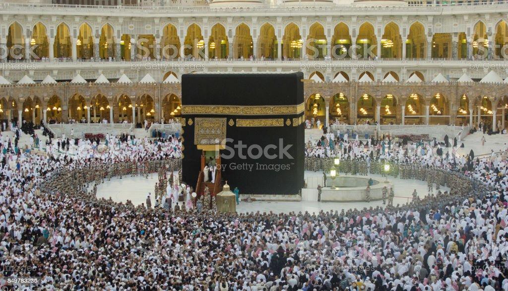 Kaaba , Mecca  -  Saudi Arabia stock photo