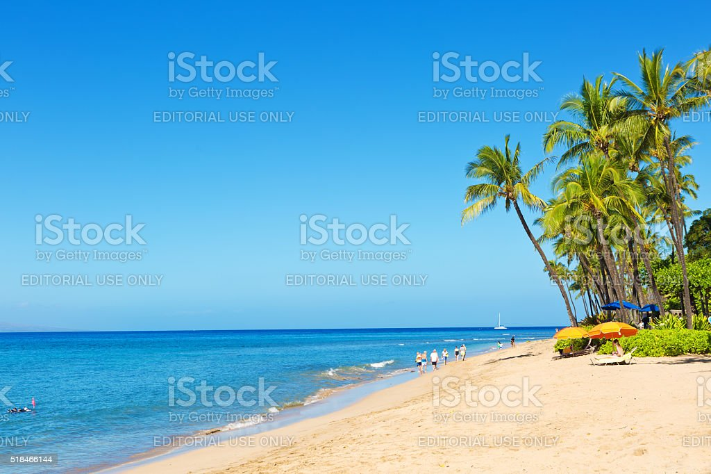 Kaanapali Beach And Resort Hotels On Maui Hawaii Stock Photo Download Image Now