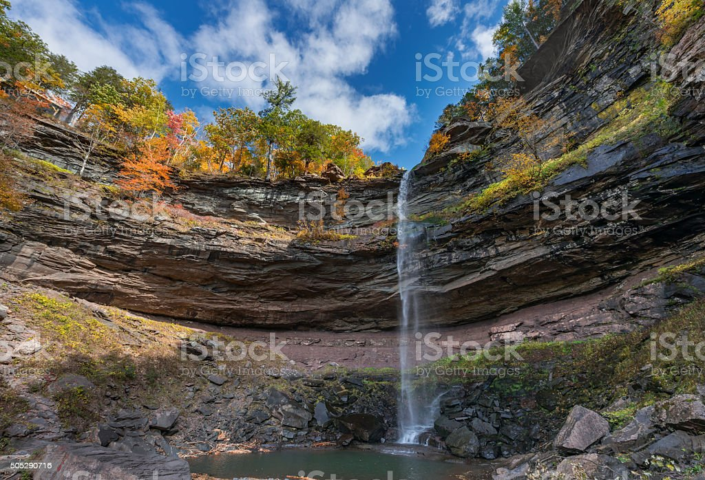 Kaaterskill Falls  Catskills Mountains stock photo