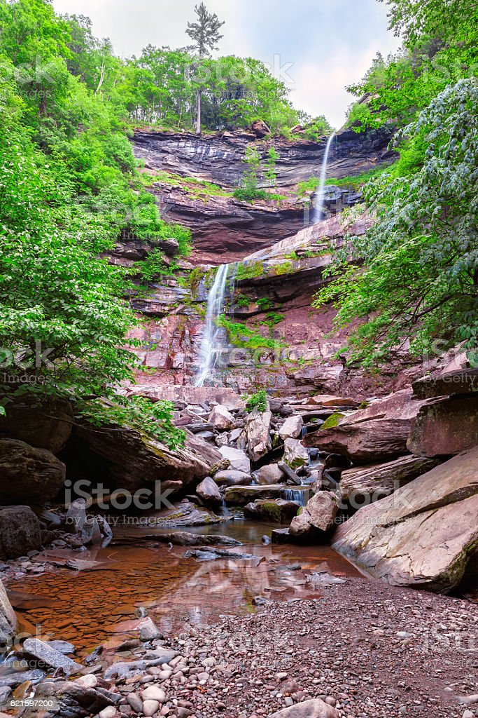 Kaaterskill Falls in Catskills Mountains stock photo