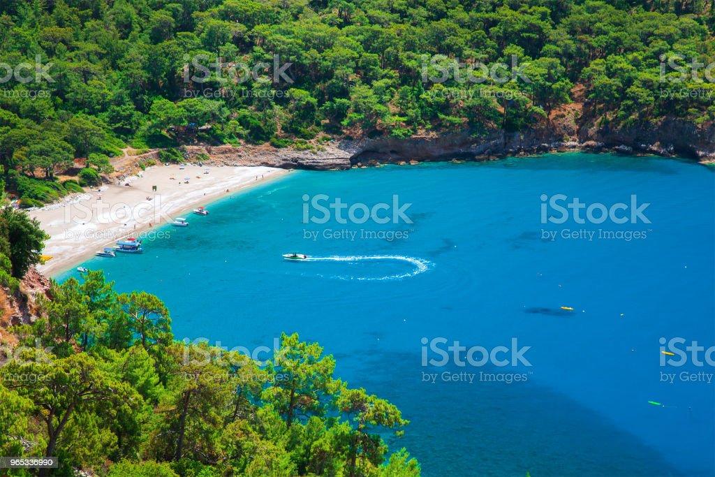 Kabak 海灘在土耳其 - 免版稅亞洲圖庫照片