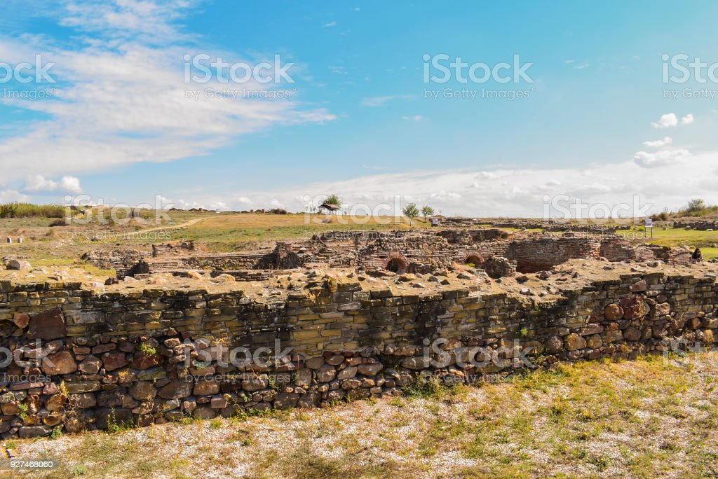 Kabile is an ancient Thracian town, founded around the 4th century BC. On the foundations of a more ancient settlement at the foot of today's Zachi peak,near the bend of the river Tundja in antiquity. stock photo