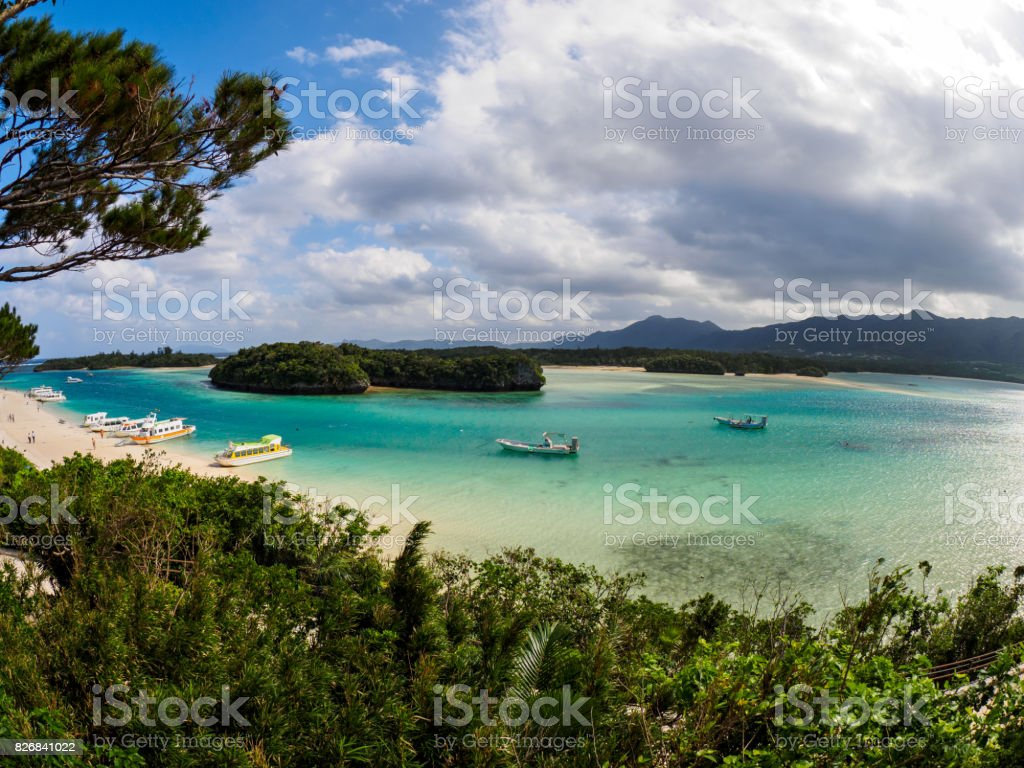 Kabira Bay in Ishigaki stock photo