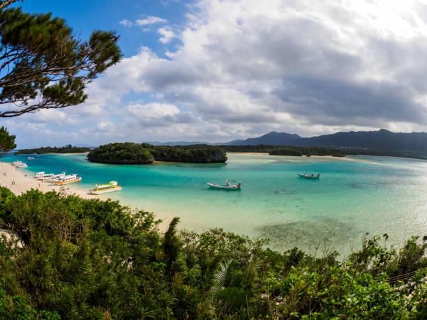 Kabira Bay in Ishigaki stock photo