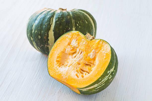 Kabocha , is Japanese pumpkin or green pumpkin stock photo