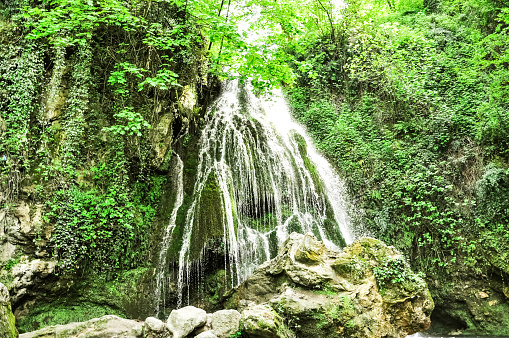Kaboud-val waterfall in Gorgan