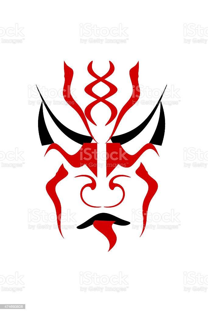 kabuki face stock photo