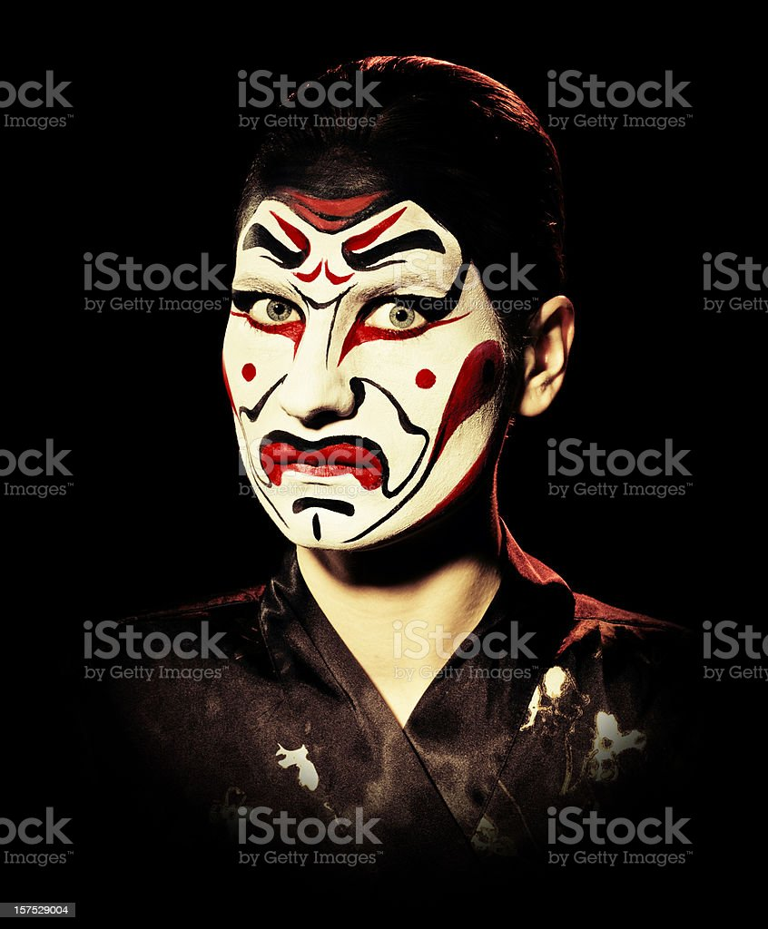 kabuki mask royalty-free stock photo