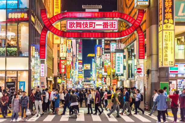 kabukicho district kabukicho district tokyo stock pictures, royalty-free photos & images