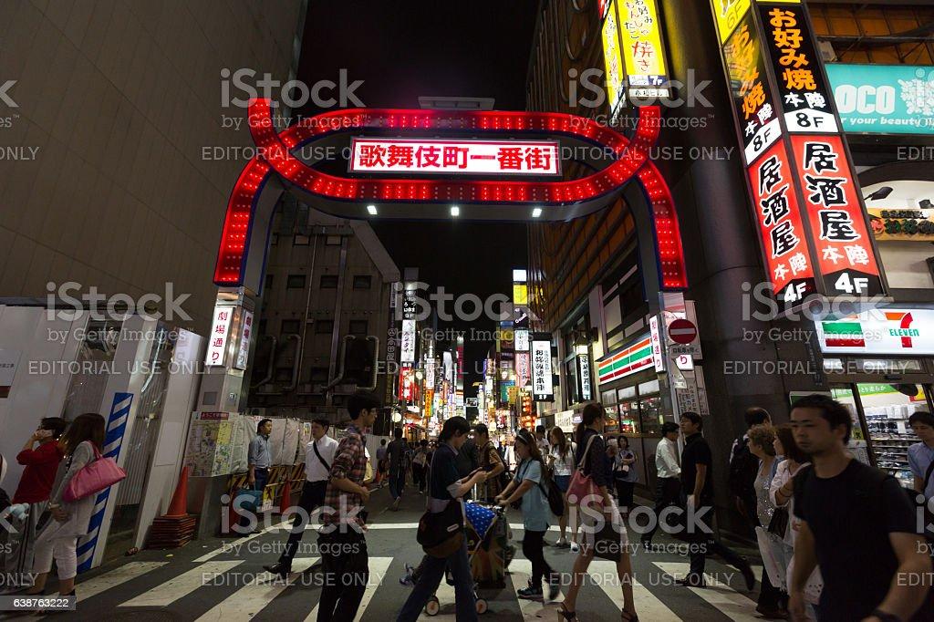 Kabukicho in Shinjuku, Tokyo, Japan stock photo