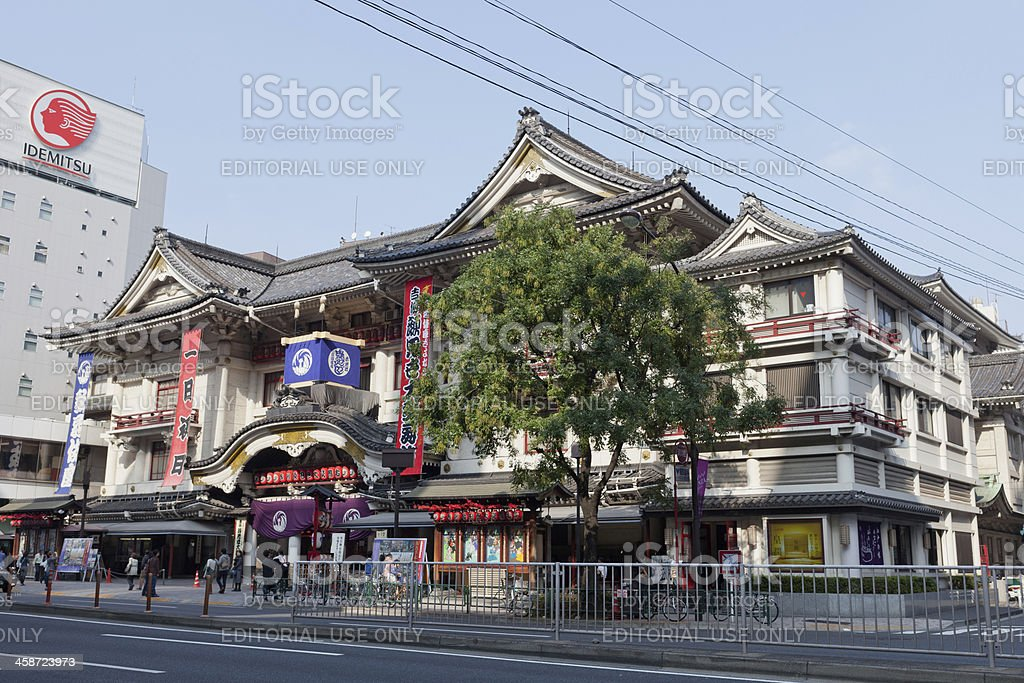 Kabuki-Za Theater in Tokyo royalty-free stock photo