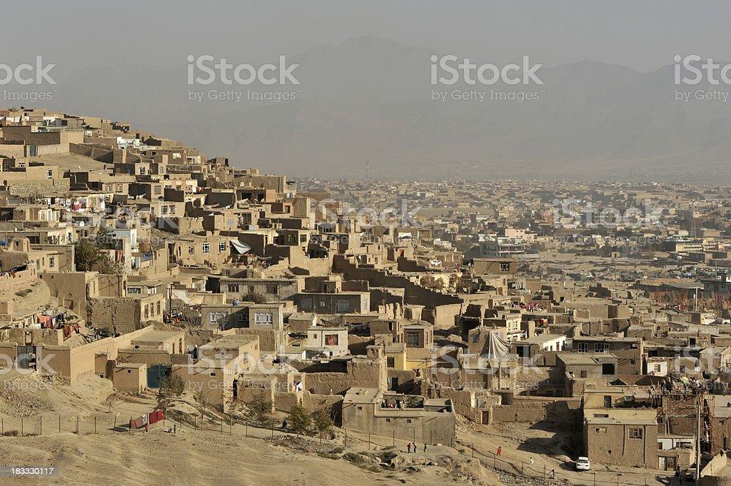 Kabul city view, Afghanistan stock photo