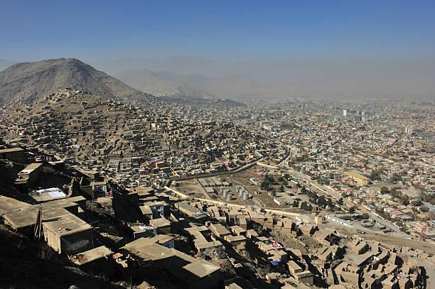 Kabul city view stock photo