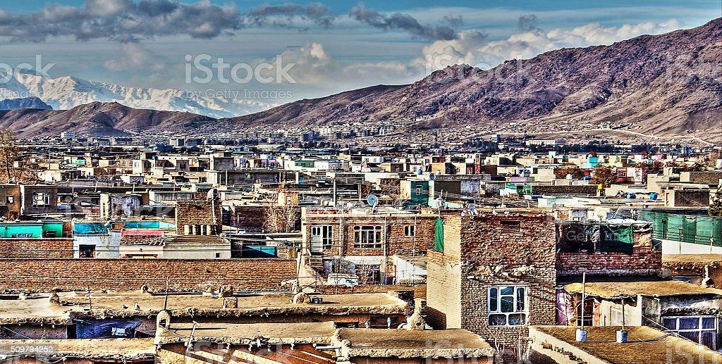kabul vilage stock photo