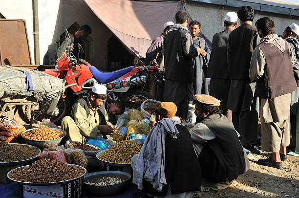 Kabul's bazaar / market stock photo
