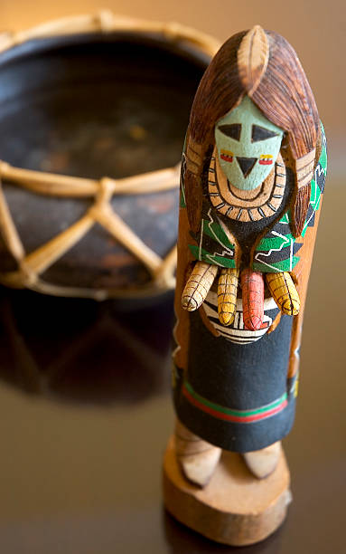 kachina doll - hopi stock photos and pictures