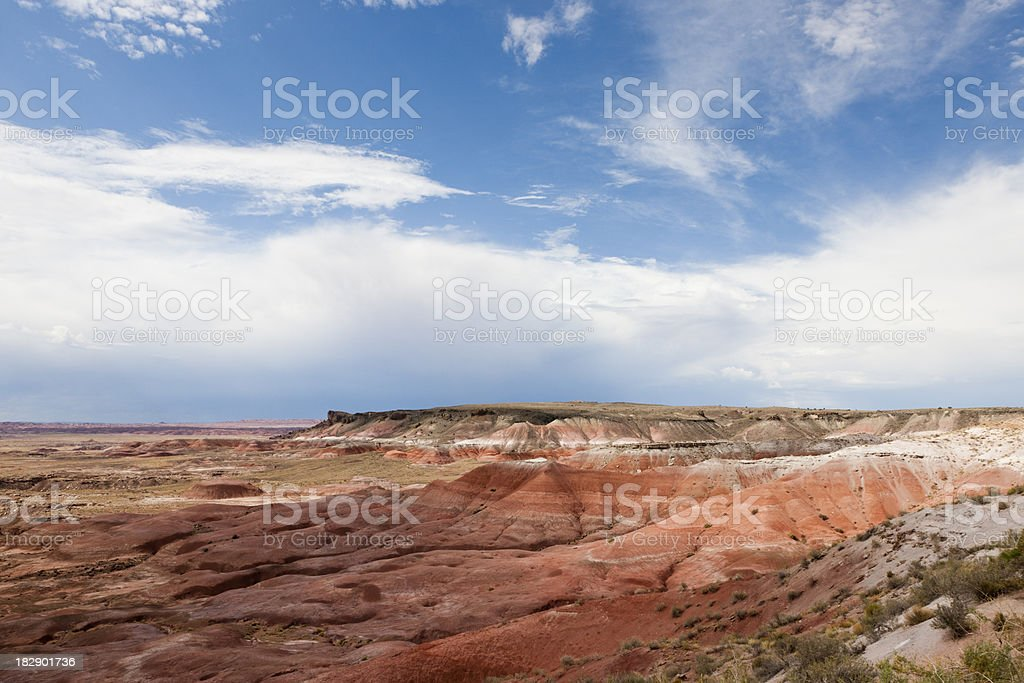 Kachina Point View, Petrified Forest NP royalty-free stock photo