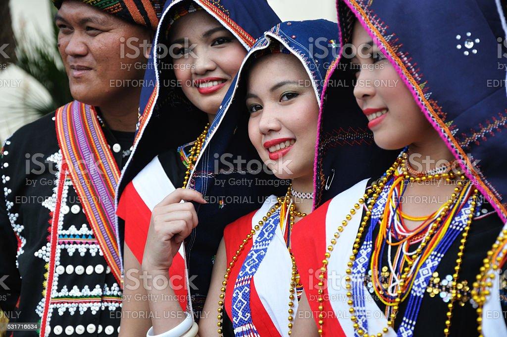 Kadazan Dusun tribe in Sabah Borneo stock photo