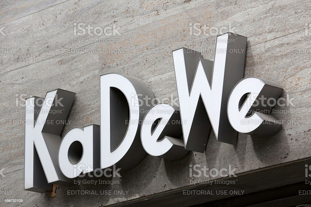 KaDeWe sign royalty-free stock photo