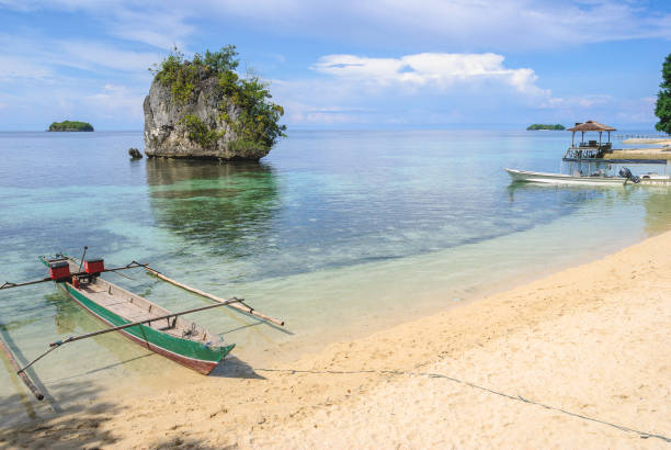 Kadidiri Beach Kadidiri Island in the Togean Islands sulawesi stock pictures, royalty-free photos & images