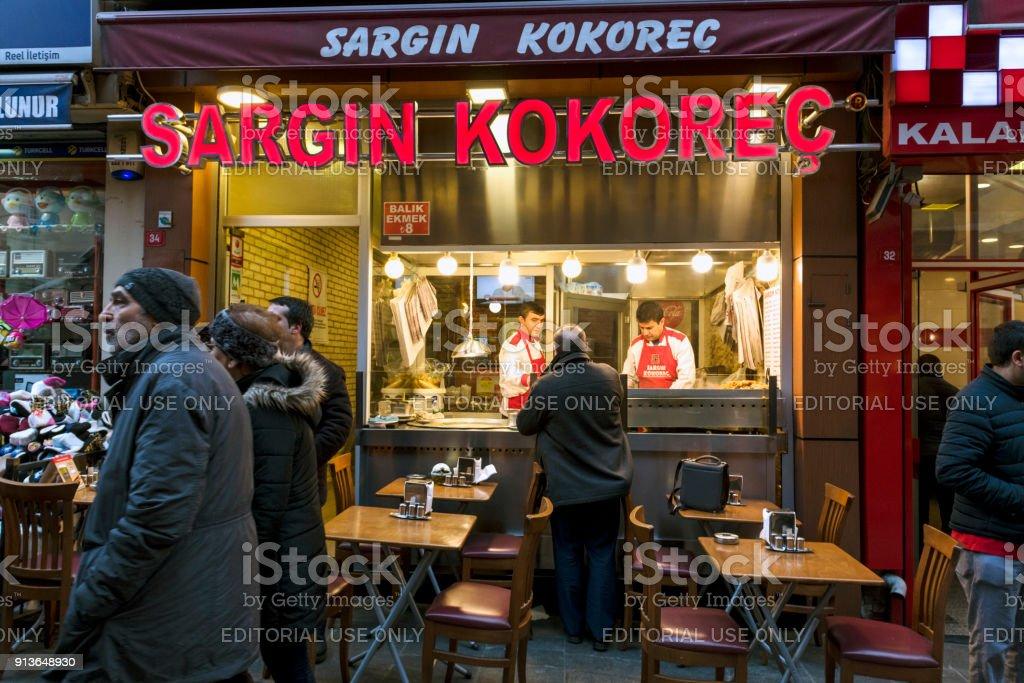 Kadikoy Bazaar in  Istanbul. stock photo