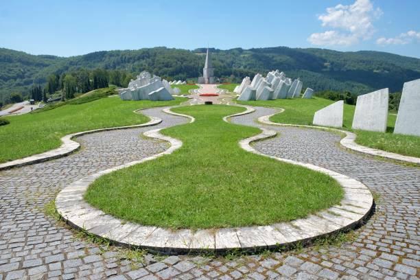 Kadinjaca Memorial Complex, Serbia stock photo