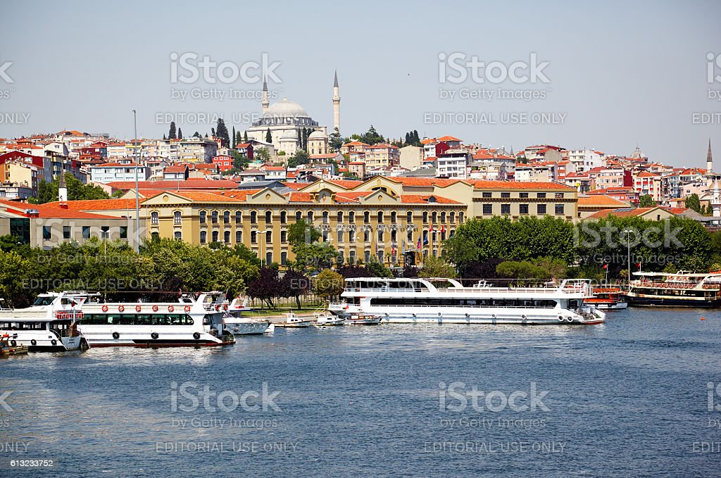 Kadir Has University and Yavus Sultan Selim Mosque, Istanbul stock photo