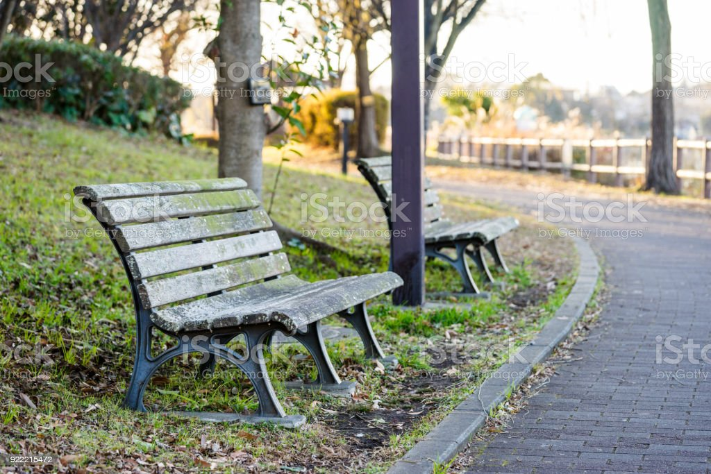 Kadoike park bench stock photo