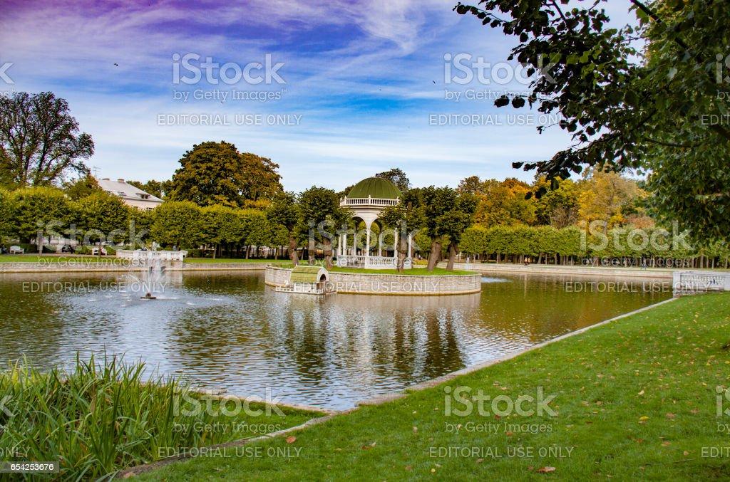 Kadriorg Park stock photo
