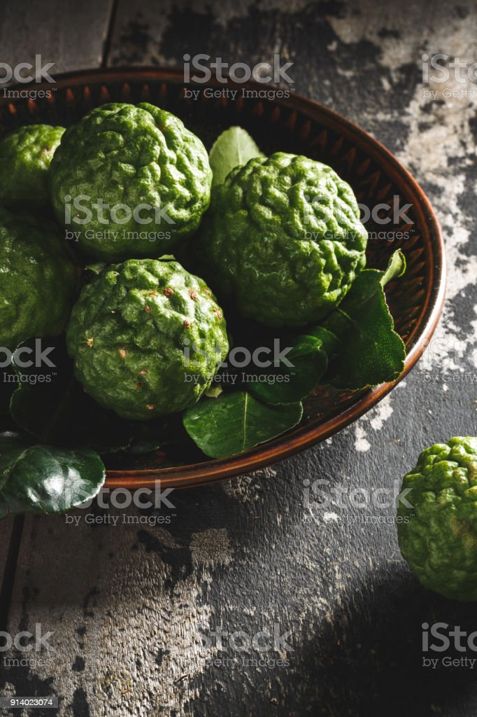 Kaffir Lime Citrus stock photo