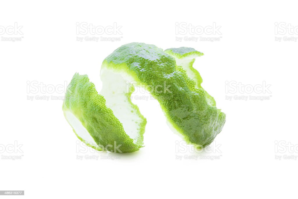 Kaffir Limes twist stock photo