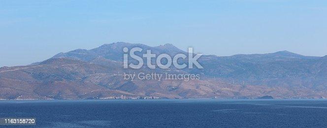 Kafireas Wind Farm in Evia, Greece
