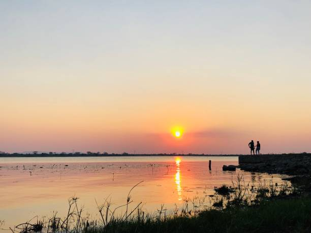 Kafue River Sunset stock photo